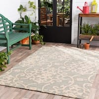 Hand-hooked Galveston Indoor/ Outdoor Floral Area Rug