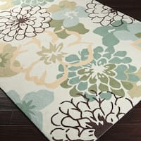 Hand-hooked Farmington Green Area Rug (2' x 2'9)