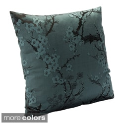 Cherry Blossom Azure Accent Pillow