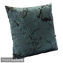 Cherry Blossom Azure Accent Pillow