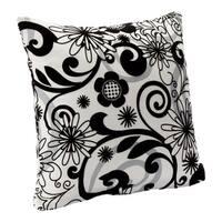 Efflorescence Floral Print Decorative Throw Pillow