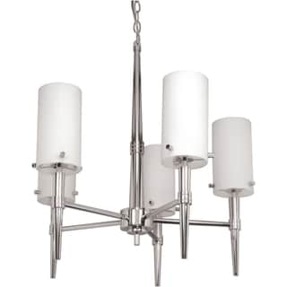 Nuvo 'Jet' 5-light Polished Chrome Chandelier