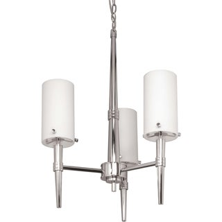 Nuvo 'Jet' Three-Light Polished Chrome Indoor Chandelier