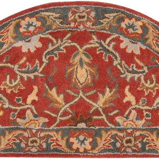 Hand-tufted Scobey Rust Traditional Border Wool Area Rug (2' x 4') (2 options available)