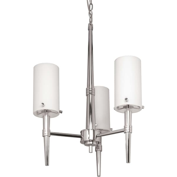 Nuvo 'Jet' 3-light Polished Chrome Chandelier