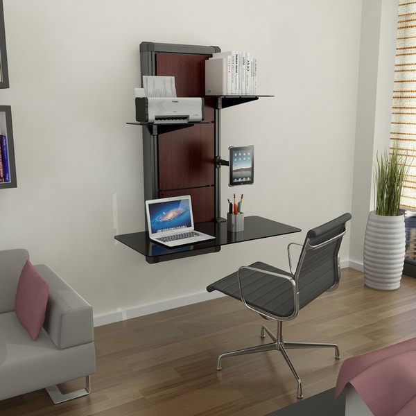 Evo Cherry Finish Wall Mount Desk Free Shipping Today
