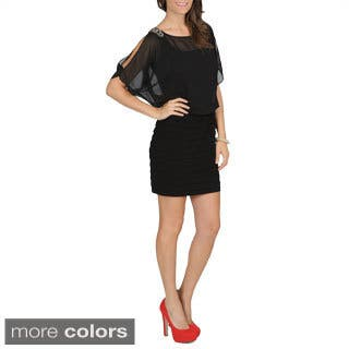 R & M Richards Black Dolman Sleeve Dress|https://ak1.ostkcdn.com/images/products/7492361/P14936376.jpg?impolicy=medium