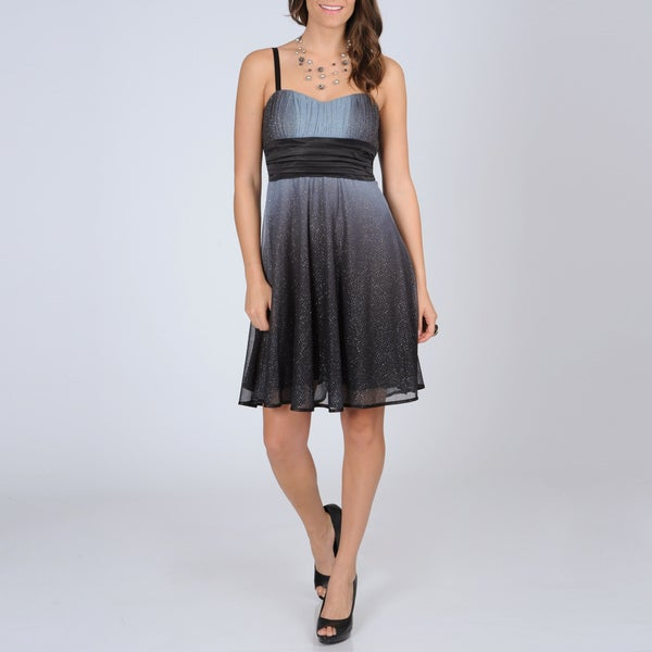 R & M Richards Women's Glitter Knit Party Dress