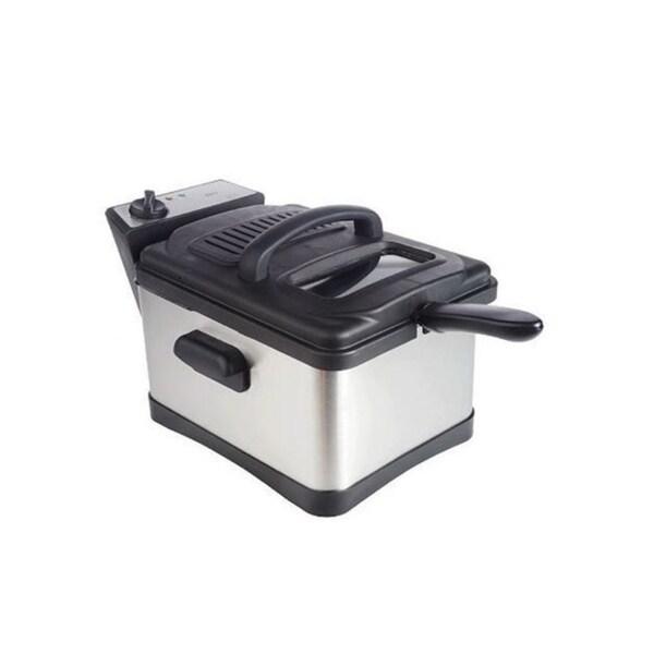 Deni 4.5-Quart Stainless Steel Non-Stick Deep Fryer
