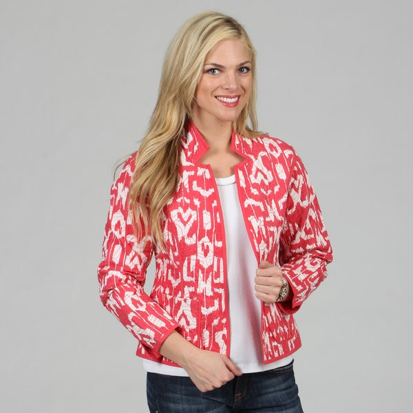 Women's Geranium Mackinaw Reversible Jacket