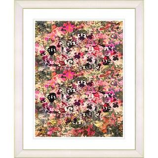 Studio Works Modern 'Pansies Garden' Framed Giclee Art Print