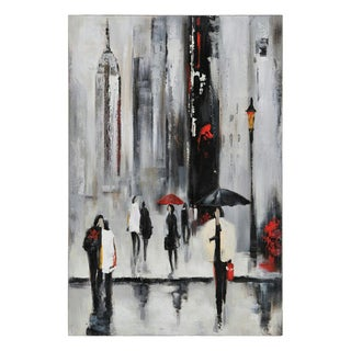 Ren Wil Lecavalier 'Bustling City I' Hand-painted Canvas Art