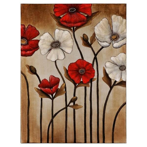 Manuela Jarry 'Florid Composition' Hand-painted Canvas Art