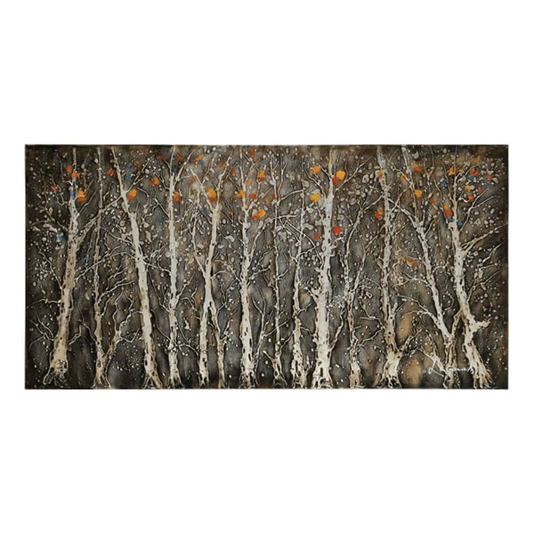 Ren Wil Lecavalier 'Rugged Forest' Hand-painted Canvas Art
