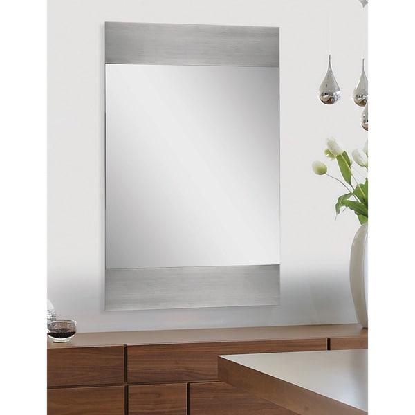 Ren Wil Amrah Polished Aluminum Frame Mirror