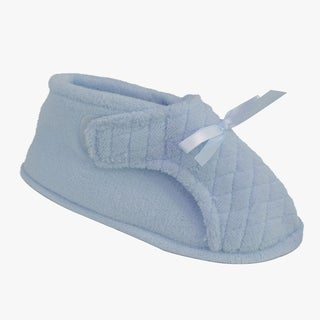 Muk Luks Women's Blue Micro-chenille Adjustable Slippers
