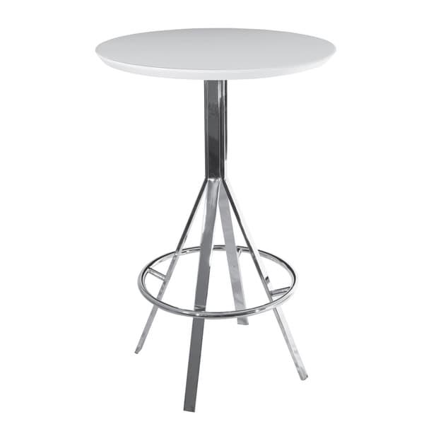 Eiffel High Gloss White Bar Table