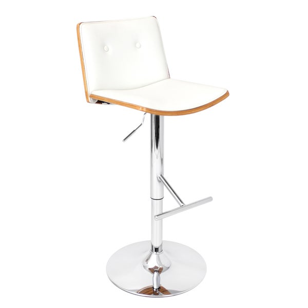 'Lustra' Zebra Bent Wood Adjustable Barstool
