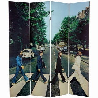 Six-Foot Tall Double Sided 'The Beatles Abbey Road' Canvas Room Divider