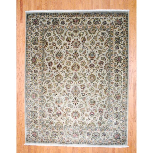Herat Oriental Indo Hand-knotted Farahan Wool Rug (9'2 x 12')