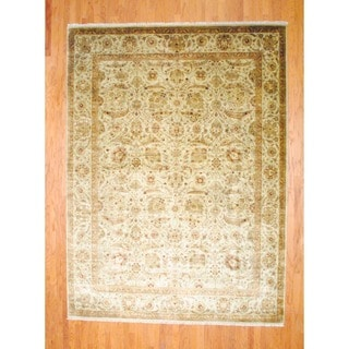 Herat Oriental Indo Hand-knotted Farahan Wool Rug (8'10 x 12')