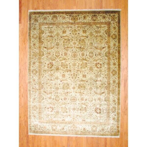 Handmade Herat Oriental Indo Farahan Wool Rug - 8'10 x 12' (India)