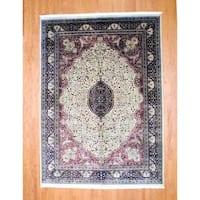 Handmade Herat Oriental Indo Farahan Wool Rug (India) - 8'6 x 12'