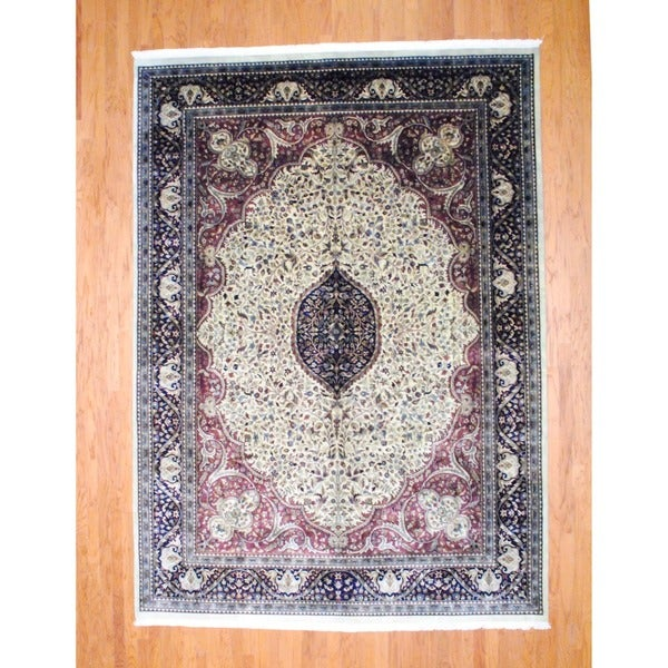 Herat Oriental Indo Hand-knotted Farahan Wool Rug (8'6 x 12') - 8'6 x 12'