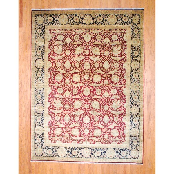 Herat Oriental Indo Hand-knotted Farahan Wool Rug - 9' x 12'