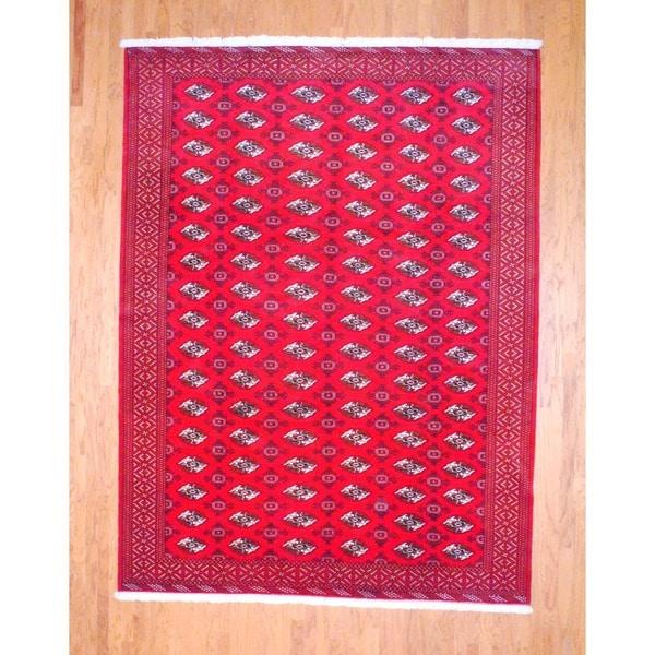 Handmade Herat Oriental Persian Turkoman Wool Rug (Iran) - 8'5 x 11'