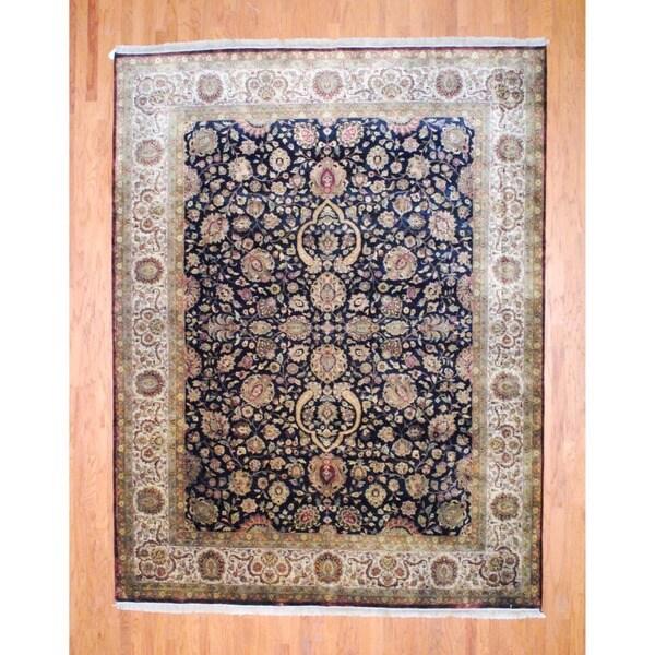 Handmade Herat Oriental Indo Farahan Wool Rug - 9'3 x 12' (India)