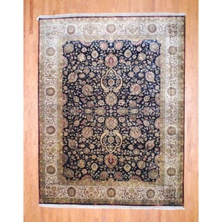Herat Oriental Indo Hand-knotted Farahan Wool Rug (9'3 x 12')