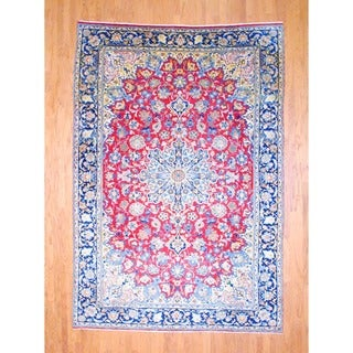 Herat Oriental Persian Hand-knotted Isfahan Wool Rug (8' x 11'7)
