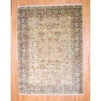 Handmade Herat Oriental Indo Mahal Wool Rug  - 8'7 x 11'7 (India)
