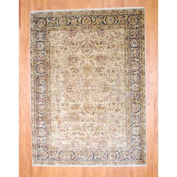 Herat Oriental Indo Hand-knotted Mahal Wool Rug (8'7 x 11'7)