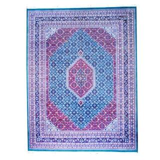Herat Oriental Indo Hand-knotted Bidjar Green/ Red Wool Rug (9'1 x 12')