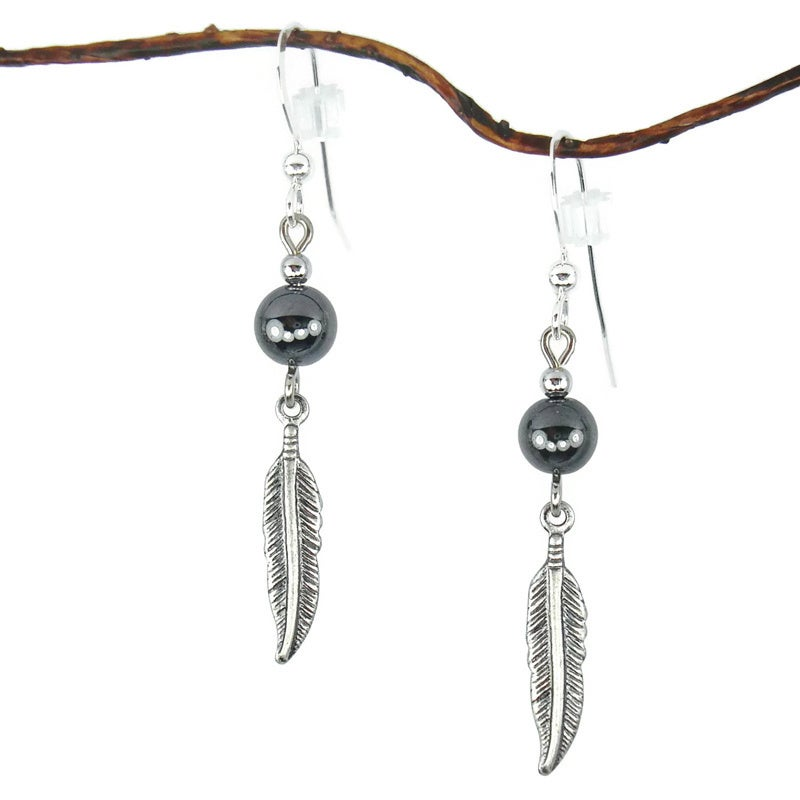 Jewelry by Dawn Hematite With Antique Silver Colored Feat...