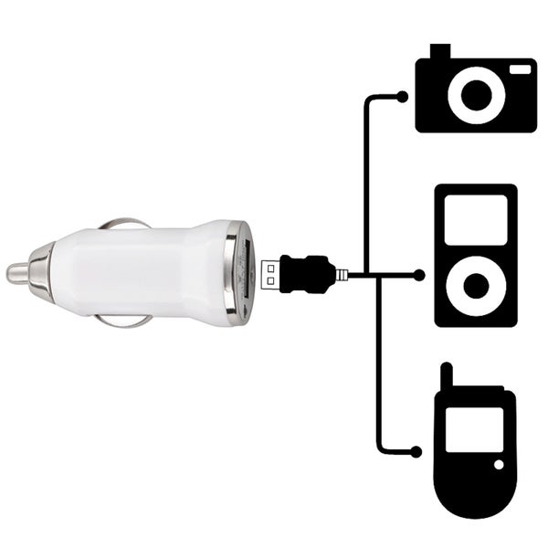 INSTEN Universal USB Mini Car Charger Adapter for Apple iPhone 4/ 4S/5/ 5S/ 6. Opens flyout.