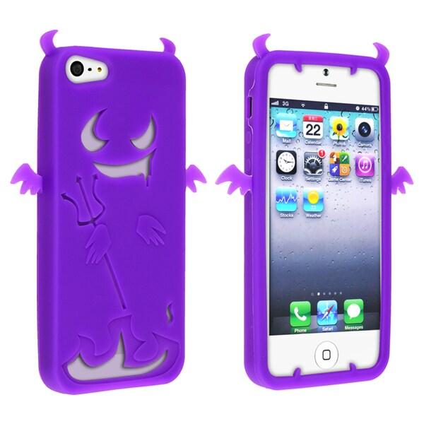 BasAcc Purple Devil Silicone Case for Apple iPhone 5