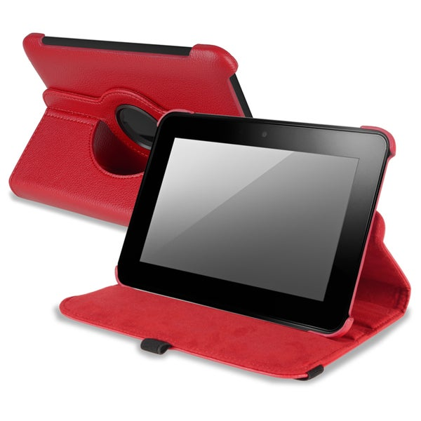 BasAcc Red Version 2 Swivel Case for Amazon Kindle Fire HD 7-INCH