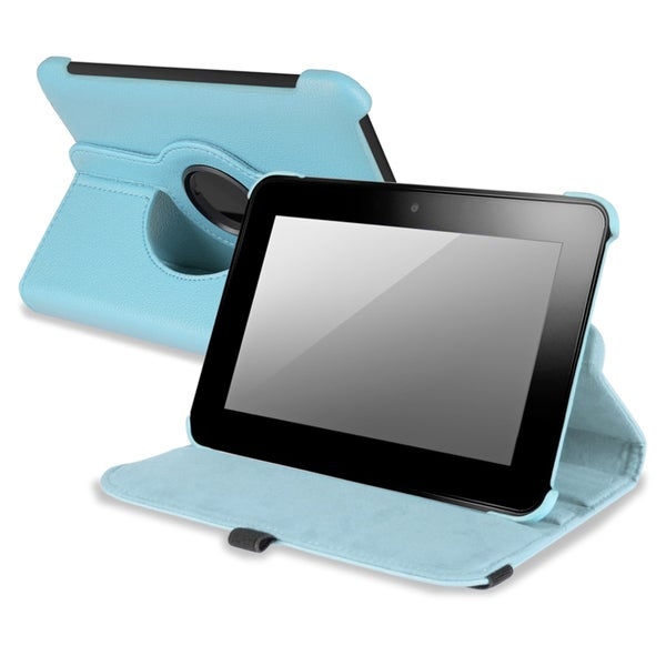 BasAcc Light Blue Swivel Case for Amazon Kindle Fire HD 7-INCH