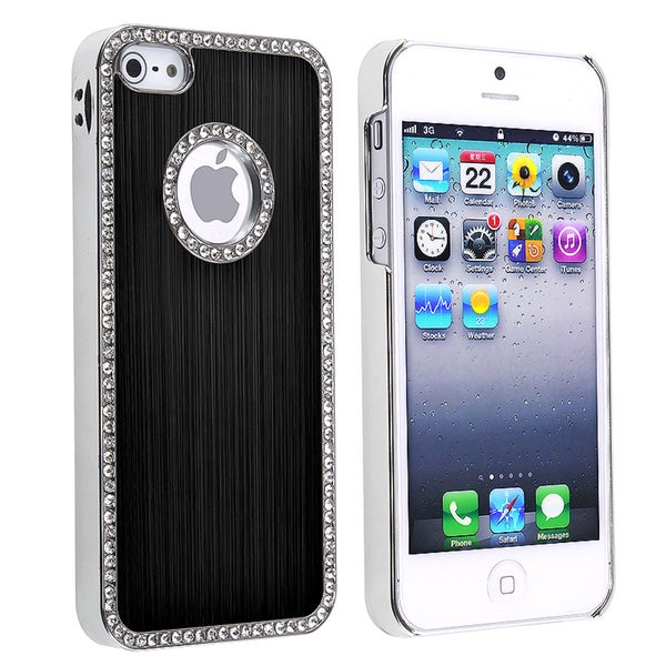BasAcc Bling Luxury Black Rear Snap-on Case for Apple iPhone 5