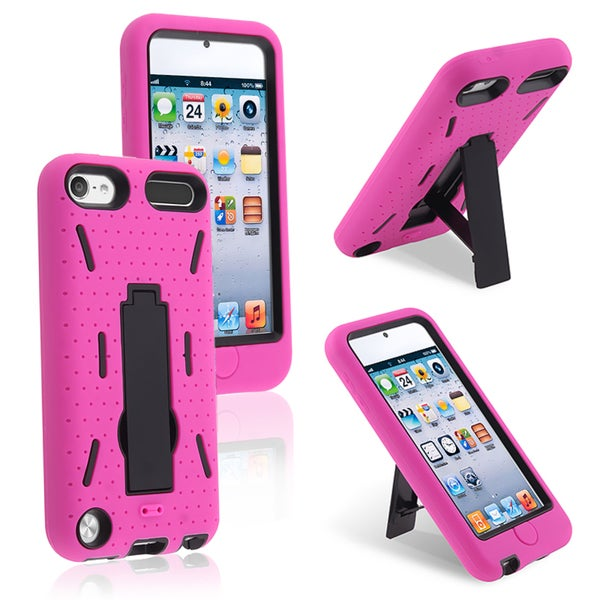 BasAcc Black Hard/ Hot Pink Skin Hybrid Case for Apple iPod Touch 5