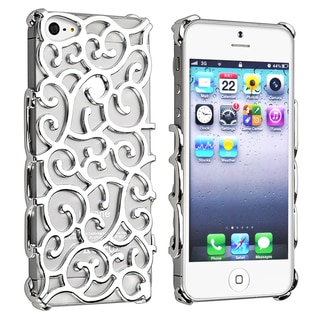 BasAcc Silver Palace Flower Chrome Snap-on Case for Apple® iPhone 5
