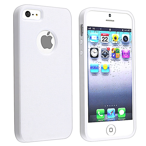 BasAcc White/ White Bumper TPU Rubber Skin Case for Apple® iPhone 5