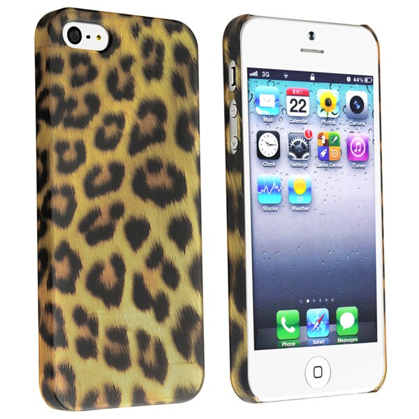 BasAcc Leopard Snap-on Rubber Case for Apple® iPhone 5