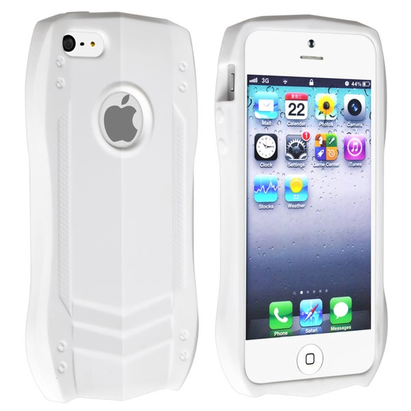 BasAcc White Sports Car TPU Rubber Skin Case for Apple iPhone 5