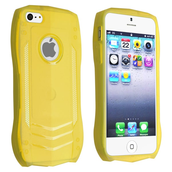 INSTEN Yellow Sports Car TPU Rubber Skin Phone Case Cover for Apple iPhone 5/ 5S
