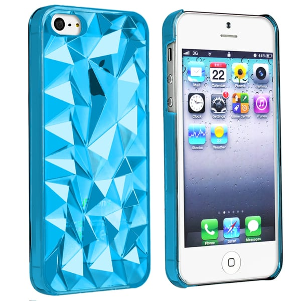 BasAcc Clear Blue Diamond Cut Snap-on Case for Apple iPhone 5