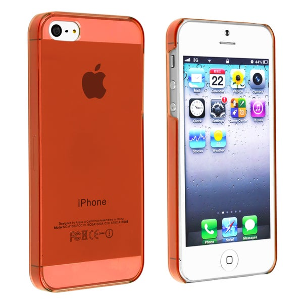BasAcc Clear Red Snap-on Slim Case for Apple® iPhone 5/ 5S